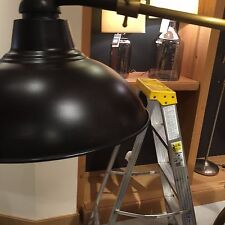 Pottery Barn Windsor Task Floor Lamp Steel Black And Brass Swivels New