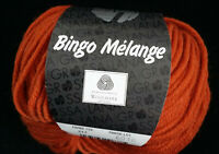 (11 € / 100 g): 200 g Bingo Mélange, Lana Grossa,  Fb. rostbraun 217 #4240
