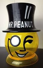 Mr Peanut Head Planters Plastic Store Display Advertising Container Rare Yellow