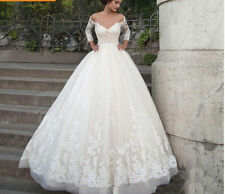 Sexy  Vestidos De Novia Lace Wedding Dress Three Quarter Sleeves Backless Custom