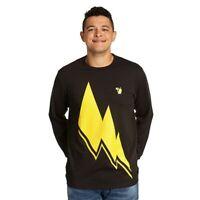 Pokémon Pikachu Thunderbolt Official Long sleeve T-Shirt Brand New Free UK P&P