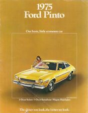 Ford Pinto 1974-75 USA Market Sales Brochure Sedan Runabout Station Wagon