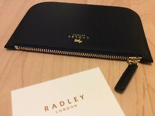 Radley BLACK Leather zip Coin Purse    NEW WITH TAGS.