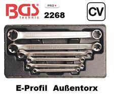 BGS E-Profil Doppel Ringschlüssel 2268 6 teilig E6 / E8 - E20 / E24 Außen Torx