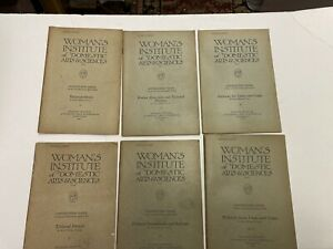 Women's Institute Library Of DEPT OF TAILORING 6 Booklets, Scranton, PA 1921-22