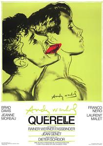 ANDY WARHOL Querelle Green 39.25 x 27.5 Poster 1983 Pop Art Green, Black Film, M