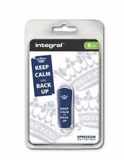 Integral USB 2.0 Expression Flash Drive - 8GB Keep Calm blue. INFD8GBXPRKCBUBLUE