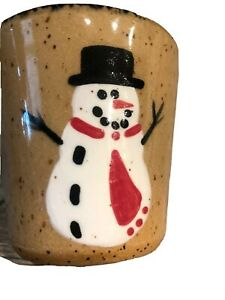 Bath and Body Works Snowman Holiday Cup 1995 Retired Collectible Stoneware