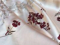 "Multipurpose Silk Crafts ~By The Yard X 44""~Desire Red 100/% Silk Habutai Fabric"