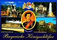 Bayerische Königsschlösser , Ansichtskarte, ungelaufen