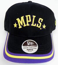 LOS ANGELES MPLS. LAKERS NBA NEW ERA VINTAGE BLACK OPUS CAP HAT NWT! RARE!!
