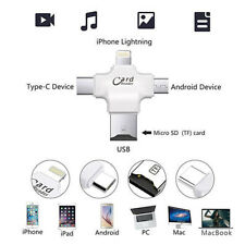 4-in-1 Card Reader TF Micro usb adapter Micro SD Card Reader for iPhone Android