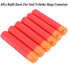 6 Pcs Refill Darts Blaster Fr Nerf N-Strike Mega Centurion Toy Gun Sniper Bullet