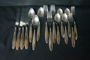 15 Pcs ONEIDA CASABA STAINLESS FORKS KNIVES, SPOONS