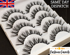 5 Pairs Demi Wispies Natural False Eyelashes Volume Thick Fake Strip WSP Lashes