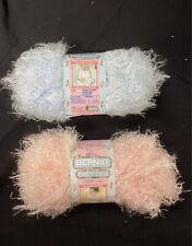 Bernat Baby Lash Yarn in Precious Pink and Bunny Blue