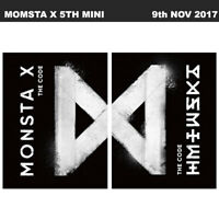Monsta X The Code 5th Mini Album 2SET Ver CD+Booklet+Card+ETC KPOP