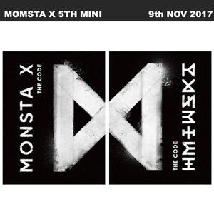 Monsta X The Code 5th Mini Album 2SET Ver CD+Booklet+Card+ETC KPOP