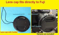 Front Snap-On Lens Cap Fit Fuji FinePix HS50 HS35 HS30 HS20 HS25 HS10 EXR + Halter