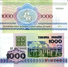 BELARUS 1000 Rublei Banknote World Paper Money UNC Currency Pick p11 Note Bill