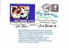 JAMES BOND RICHARD KEIL MULTI SIGNED FIRST DAY COVER 8 SIGNATURES
