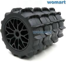 4pc 1/8 RC Off Road Paddles Tires Sand Snow Buggy tyres 120mm & Hex 17mm Wheels