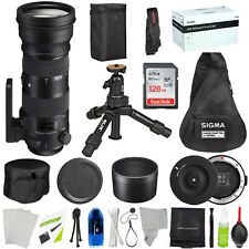 Sigma 150-600mm F/5-6.3 APO DG OS HSM SPORT Lens For Canon w/ PREMIUM BUNDLE