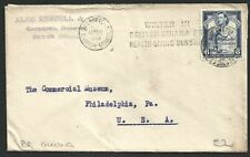British Guiana 1939 KGVI Indian Shooting Fish 6c Cover to USA with Slogan