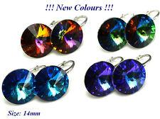 925 Sterling Silver Earrings 14mm RIVOLI Crystals from Swarovski®
