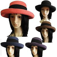 new Summer Fashion  Women church paper straw Hat Bowler Derby floppy fedora cap