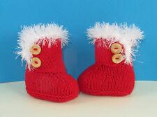 Impreso instructions-baby Navidad ceñido Botas (Botines) bootees Tejer patrón