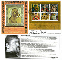 2005 CHRISTMAS MINIATURE SHEET SIGNED ADRIAN PLASS BENHAM FIRST DAY COVER SHS