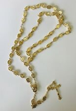 Rosary Of Electroplated Gold Beads With Crucifix