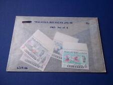 Malaysia-Kelantan Scott# 91-94. Mint NH, 1 has gum disturbance.