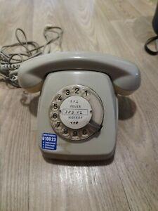 Wählscheiben Telefon POST FeTAp 611-2 Grau aus 70er