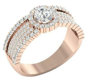Solitaire Anniversary Ring I1 G 2.00 Carat Natural Diamond 14K Rose Gold 8.55 MM