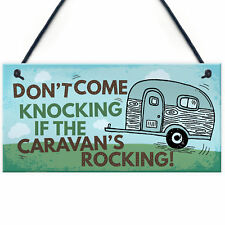 Caravan Rocking Novelty Plaque Sign Campervan Motorhome Family Friendship Gift