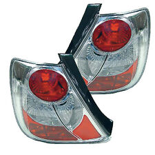 Tail Light Chrome/Clear Housing  Honda Civic 2002-2005 (Pair Set)