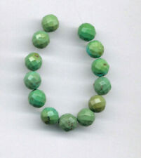 "FACETED HUBEI CLOUD MOUNTAIN TURQUOISE 7MM ROUND BEADS - 3.75"" Strand - 2457"