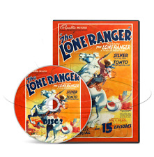 The Lone Ranger (1938) 15 Chapter Republic Movie Serial Cliffhanger (2 x DVD)