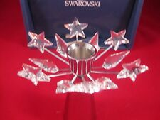 Swarovski Crystal Christmas Candlestick Holder in Silver finish
