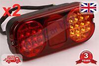 2x JCB 2CX 3CX 4CX Rear Lamp LED Light 700/50024 Brake Indicator Backhoe Digger