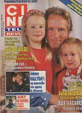 CINE REVUE (belge) 1992 N°26 eddy de wilde helene rolles julio iglesias