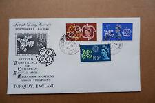 FDC Torkey England  1961 enveloppe  Second Conference of European Postal Adm