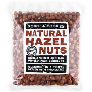 Gorilla Food Co. Natural Hazelnuts Whole Raw - 200g-3.2kg