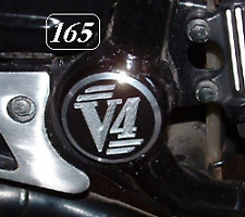 Yamaha V-Max 1200 V4 Swing-arm Pivot Covers (pair) © Exactrep
