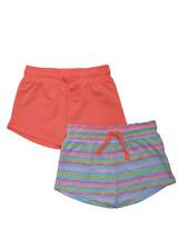 Girls BNWT 2 pack orange stripe  shorts Matalan Summer Holiday  (BB)