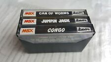 3 MSX Games from LiveWire - Congo, Jumpin Jack, Can Of Worms