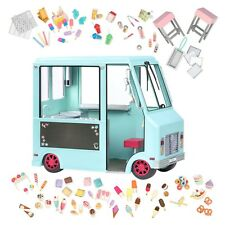"""Our Generation BLUE Sweet Stop Ice Cream Truck Fits 18"""" American Girl Dolls Doll"""