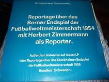 REPORTAGE ÜBER DAS BERNER ENDSPIEL DER FUSSBALL WM 1954 LIMITED EDITION LP